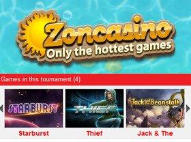 Zoncasino toernooi
