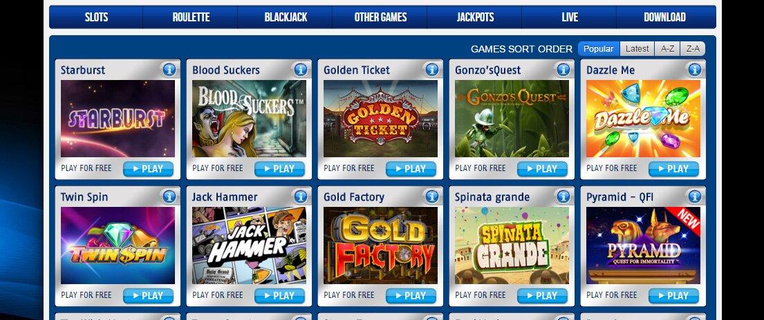 Nederbet Casinospellen