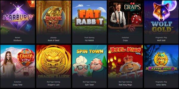Casino Universe spelaanbod