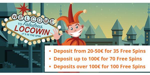 Locowin casino welkomstbonus