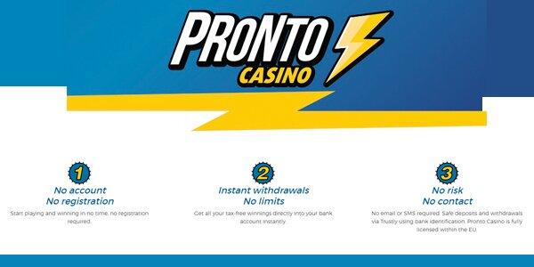Pronto Casino welkomstbonus